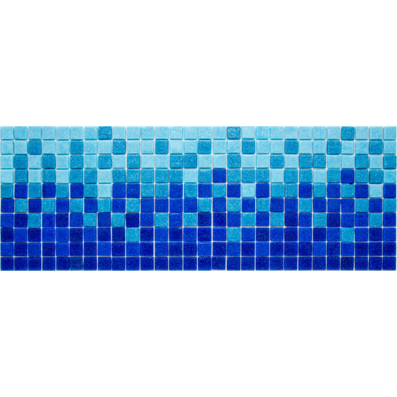 "Brisa Glass Mosaic Waterline or Border 8"" High, 1 Lineal Foot"