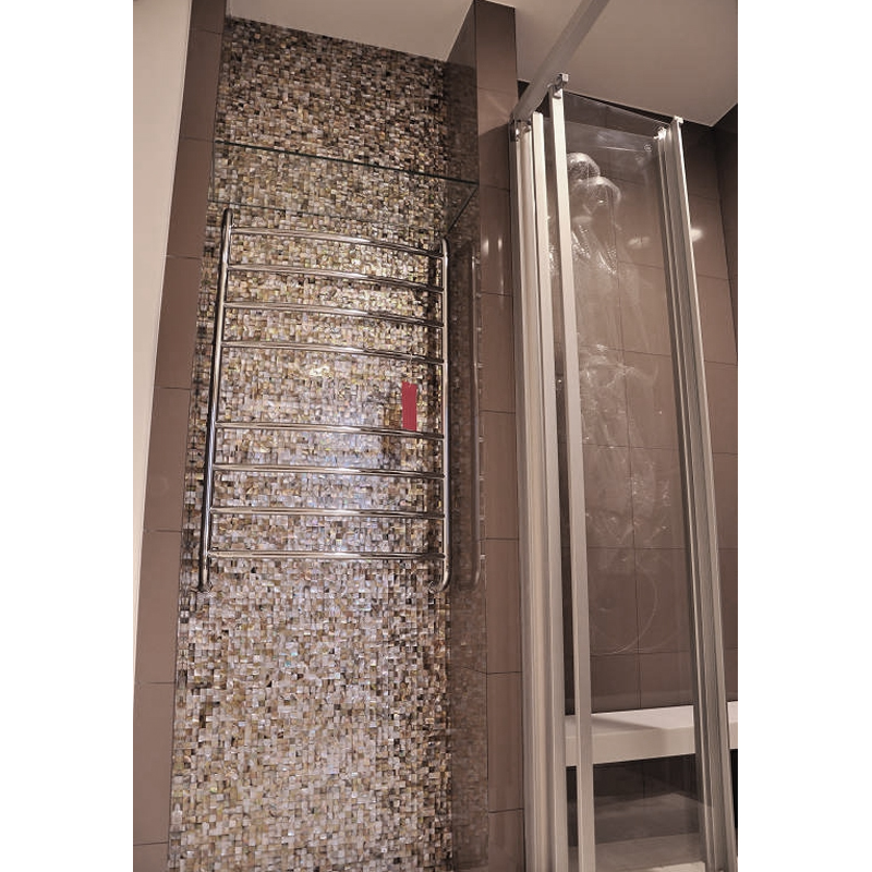 Brown Mother of Pearl Square Seashell Mosaic Closet Wall
