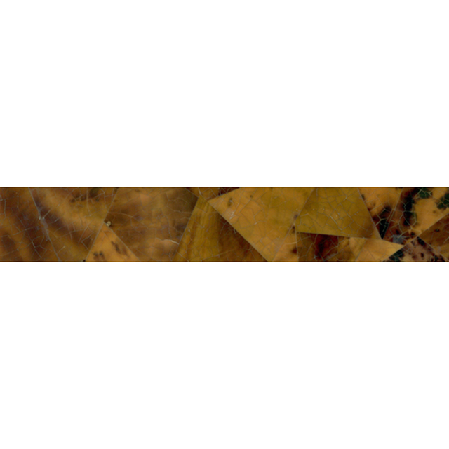 "Brown Tab Penshell Crackle Random Shell Tile, 2x12"", 1 Tile"