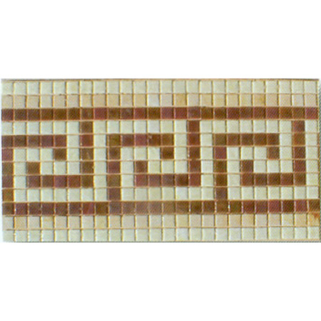 "Century 7 Glass Mosaic Waterline or Border 9 5/8"" High, 1 Lineal Foot"