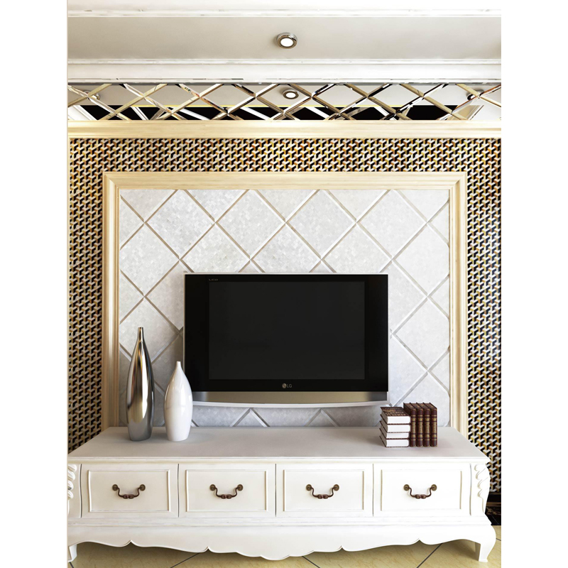 Chateau 4 Gold Mother of Pearl & Pen Shell Tile Installation