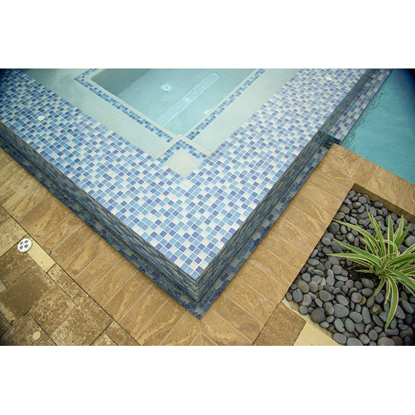 AIM Crystal Series Spa Ledge and Trough Swimming Pool Installation