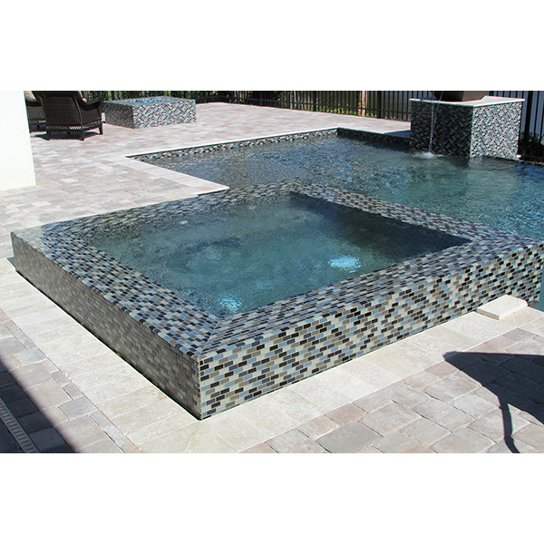 AIM Crystal Series Swimming Pool and Spa Negative Edge Installation