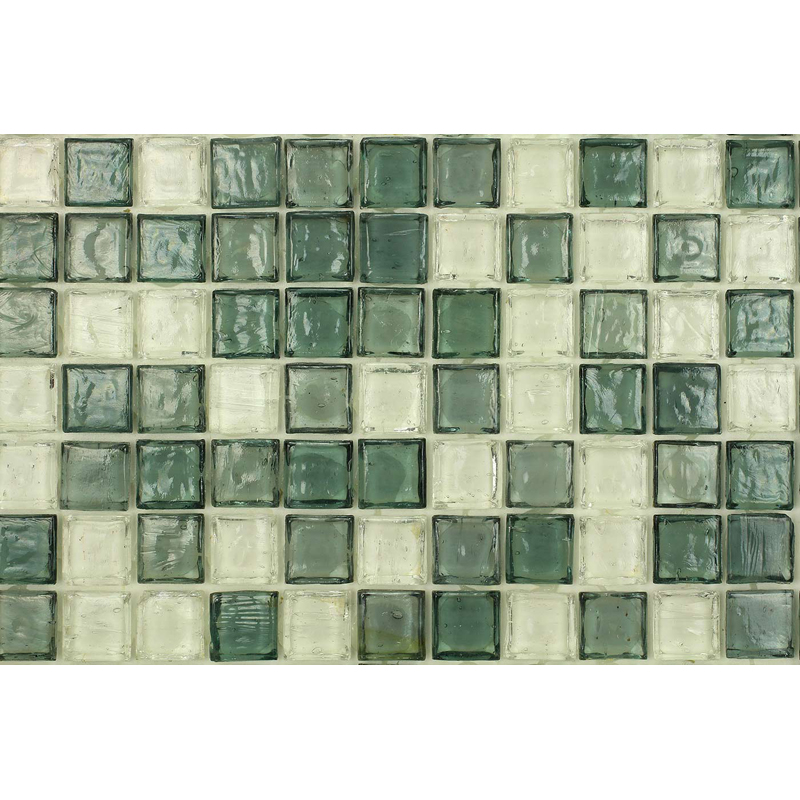 Crystal 1705 Jewel Molten Glass Blend Villi Glass Mosaic Tile, 1 sheet
