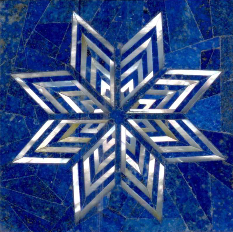 "Dubai Star II Semi Precious Gemstone Tile 6x6"", 1 piece"