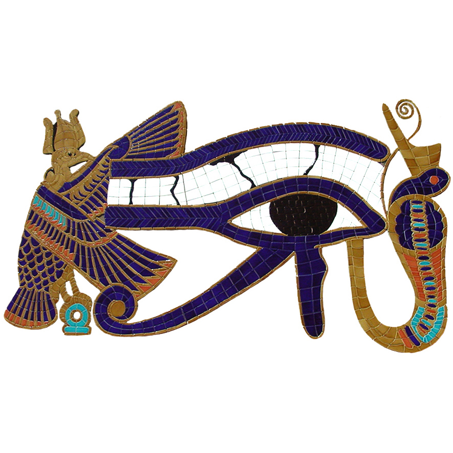 Egyptian Eye of Horus, Custom Ceramic Mosaic