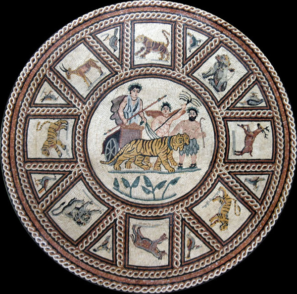 Old World Stone Mosaic Medallions