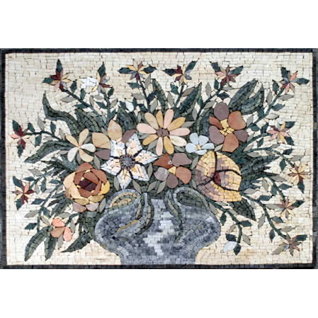 Floral Stone Mosaic Murals
