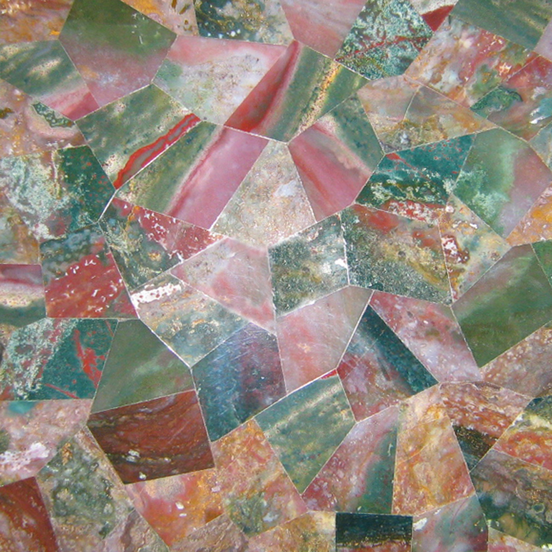 Fancy Jasper Semi Precious Gemstone Overlay, per Sq. Ft.