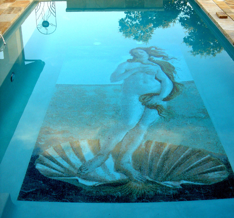 Old World Glass Mosaic Pool Murals