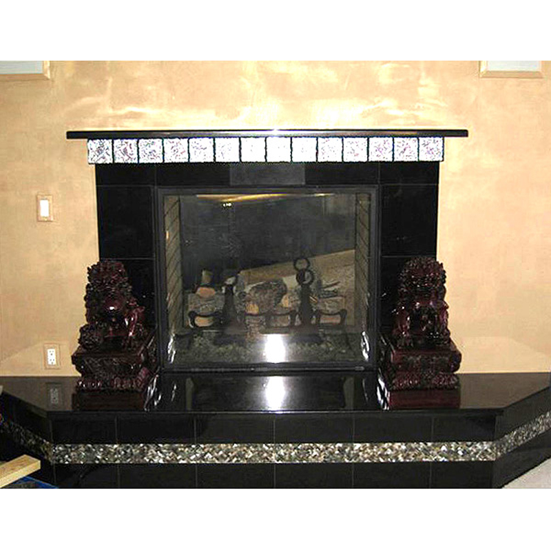 Black Mother of Pearl Fireplace