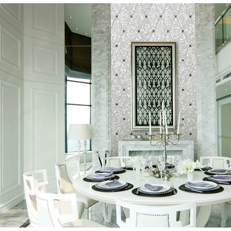 Florence Abalone & White River Shell Tile Installation