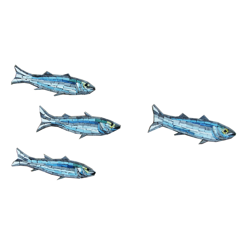 Mullet & Minnows Glass Mosaic Murals