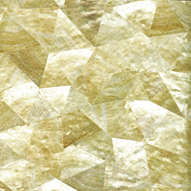 Gold Mother of Pearl Crackle Shell Tile