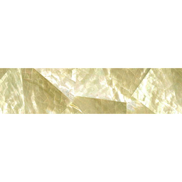 "Gold Mother of Pearl Random Shell Tile, 1x6"", 1 Tile"