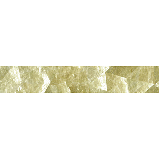 "Gold Mother of Pearl Random Crackle Shell Tile, 2x12"", 1 Tile"