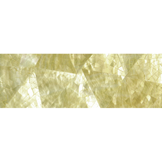 "Gold Mother of Pearl Random Shell Tile, 2x6"", 1 Tile"