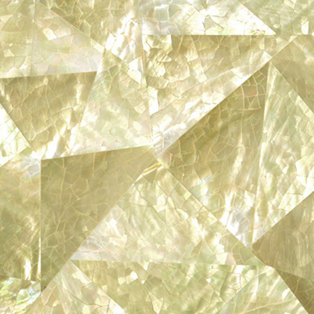"Gold Mother of Pearl Random Shell Tile, 4x4"", 1 Tile"