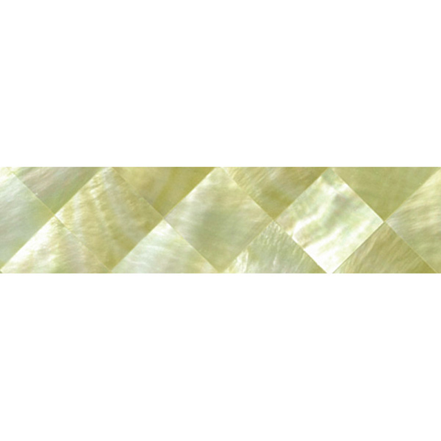 "Gold Mother of Pearl Diamond Shell Tile, 1x6"", 1 Tile"
