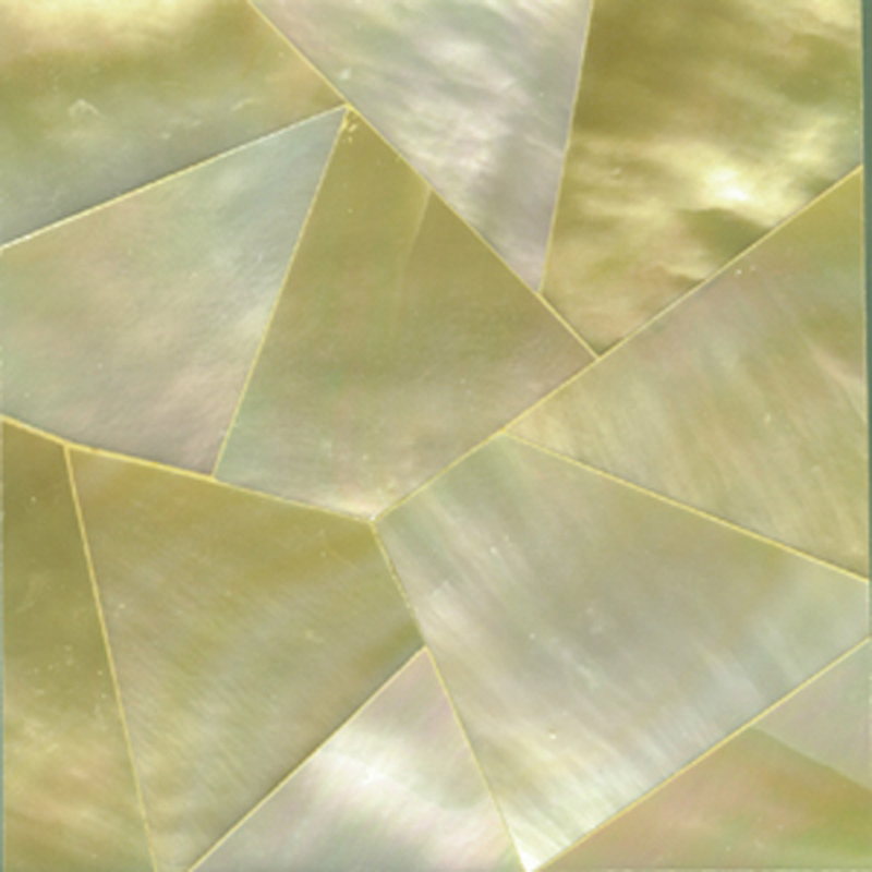 "Gold Mother of Pearl Random Shell Tile, 2x2"", 1 Tile"