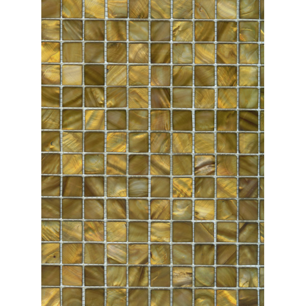 "Gold River Shell Mosaic Sheet, 20mm-3/4"", 1 tile"