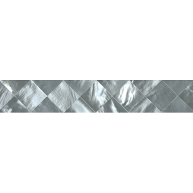 "Hammershell Gray Tint Diamond Shell Tile, 1x6"", 1 Tile"