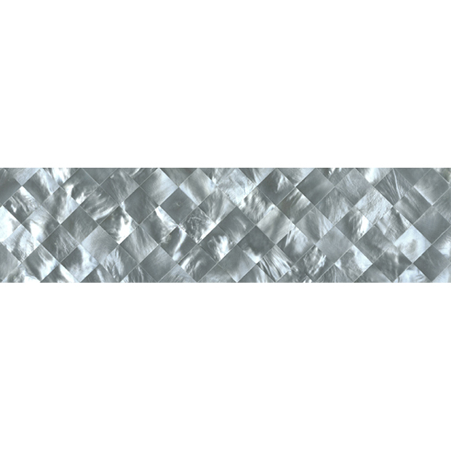 "Hammershell Gray Tint Diamond Shell Tile, 2x12"", 1 Tile"