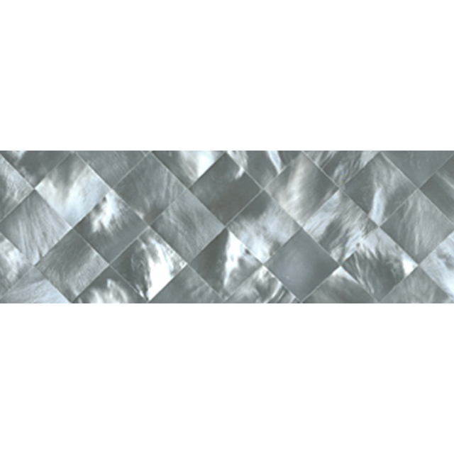 "Hammershell Gray Tint Diamond Shell Tile, 2x6"", 1 Tile"