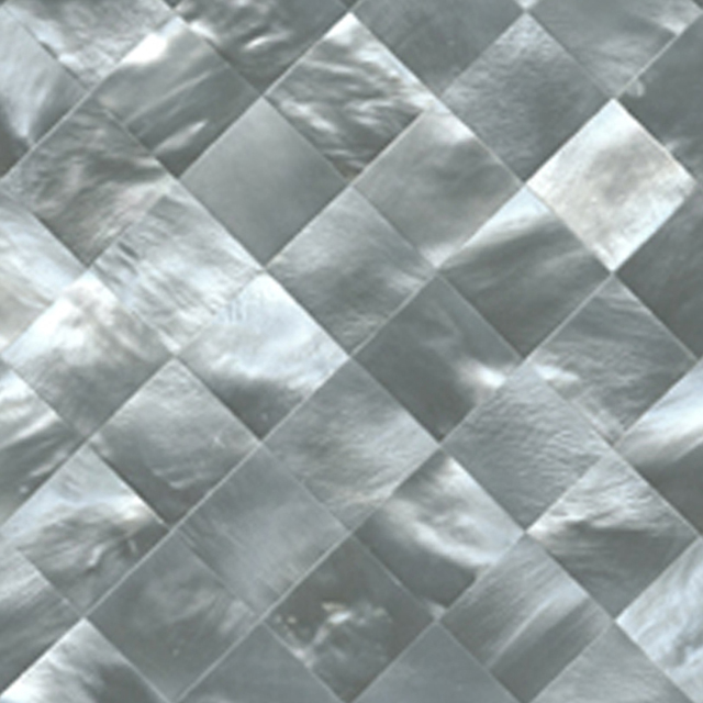 "Hammershell Gray Tint Diamond Shell Tile, 4x4"", 1 Tile"