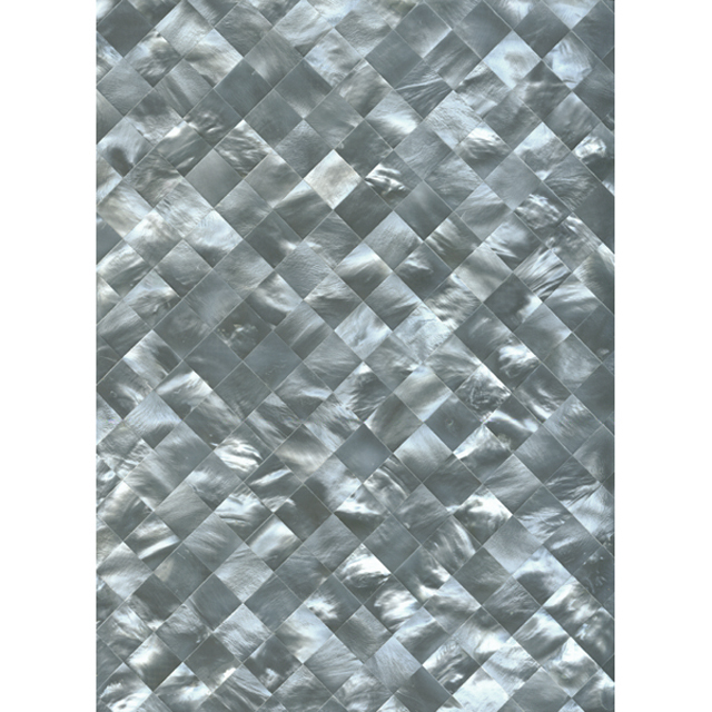 "Hammershell Gray Tint Diamond Shell Tile, 12x12"", 1 Tile"