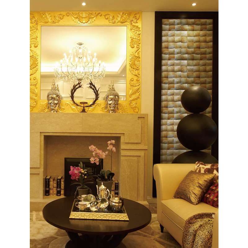 Guscio d'Oro Gold Mother of Pearl Shell Tile Installation