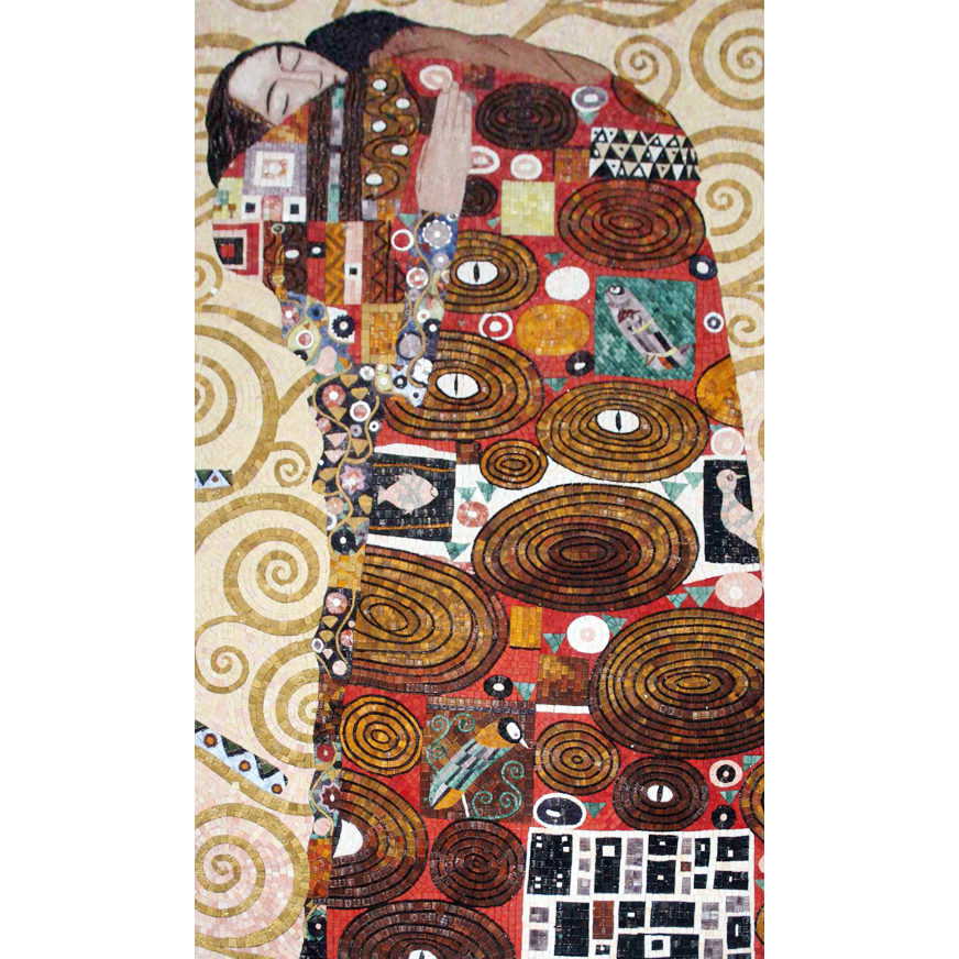 Fulfillment Klimt Handcut Glass Mural, 1 mural