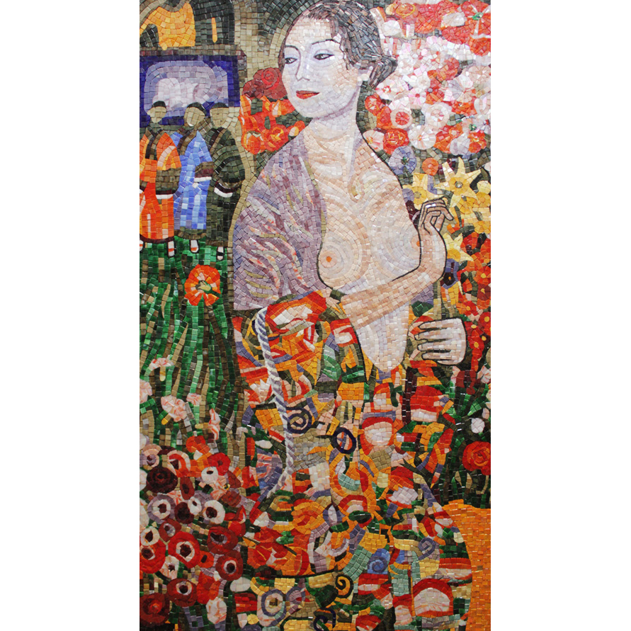 The Dancer Klimt Handcut Glass Mural, 1 mural