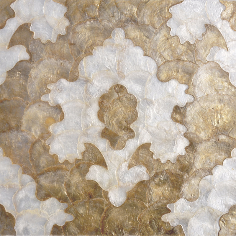 "Inaba Capiz Shell Tile 11.8"" x 11.8"", 1 piece"