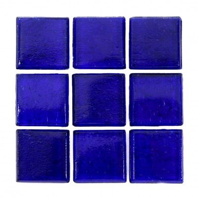 "Indigo Kolorines Kuarzo Glass Mosaic Tile, 3/4"" x 3/4"" - 20mm, 1 sheet"