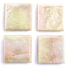 "Ivory Kolorines Metalica Glass Mosaic Tile, 2"" x 2"" - 50mm, 1 square foot"