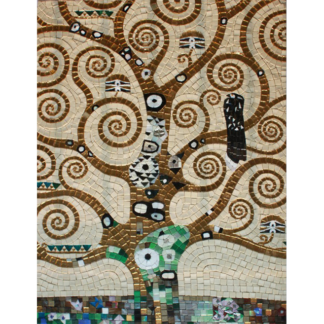 Tree of Life Klimt Handcut Glass Mural, 1 mural