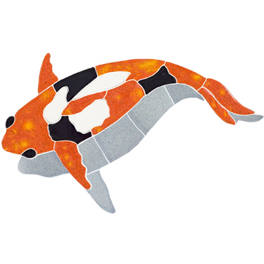 Koi Fish Orange With Shadow Left Ceramic Mosaic Swimming Pool Pond Or Garden Mural 8 X 11