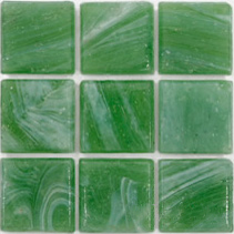 "Aralia Kolorines Kuarzo Glass Mosaic Tile, 3/4"" x 3/4"" - 20mm, 1 sheet"