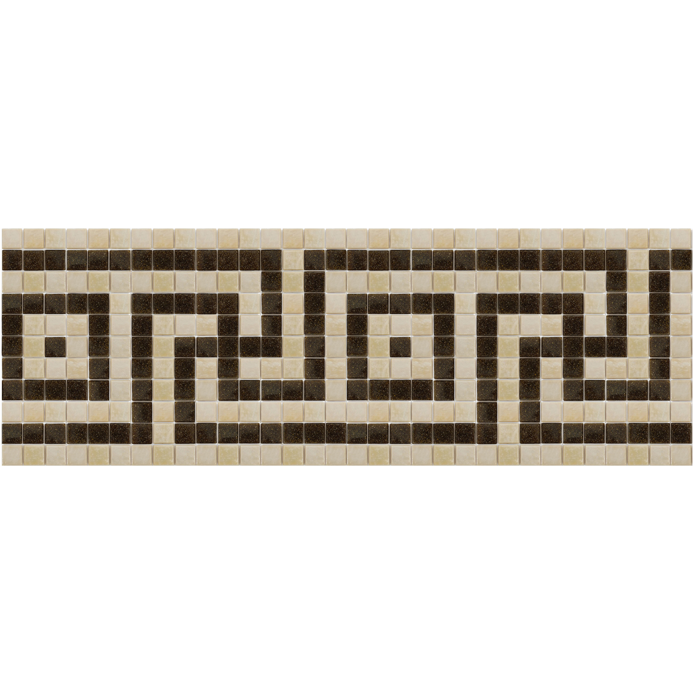 "Macedonia Glass Mosaic Waterline or Border 9"" High, 1 Lineal Foot"