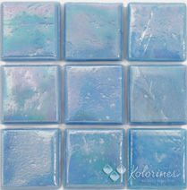 "Ciano Kolorines Metalica Glass Mosaic Tile, 3/4"" x 3/4"" - 20mm, 1 square foot"
