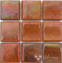 "Terra Iris Kolorines Metalica Glass Mosaic Tile, 3/4"" x 3/4"" - 20mm, 1 square foot"