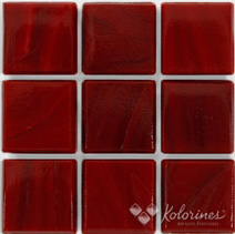"Scarlet Kolorines Solar Glass Mosaic Tile, 2"" x 2"" - 50mm, 1 sheet"