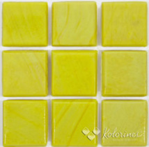 "Yellow Kolorines Solar Glass Mosaic Tile, 3/4"" x 3/4"" - 20mm, 1 sheet"