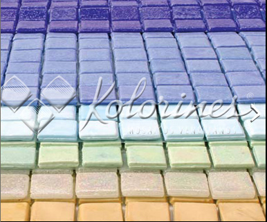 "Kolorines V25 1"" x 1"" Glass Mosaic Tile"