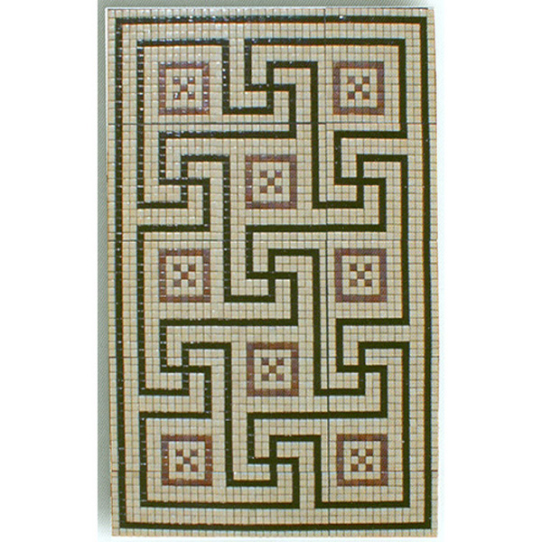 "Roman Villa Glass Mosaic Carpet 3/4"" - 20mm, 1 piece 45"" x 69"""