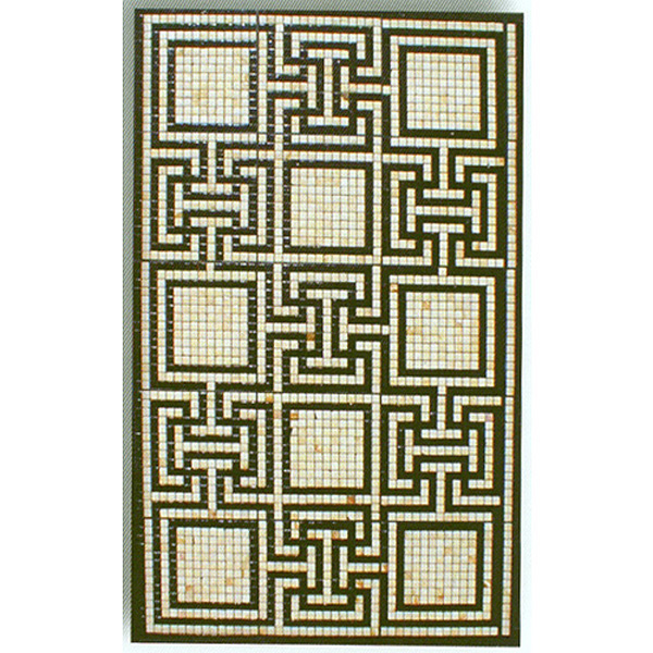 "Roman Baths Glass Mosaic Carpet 3/4"" - 20mm, 1 piece 47"" x 75"""