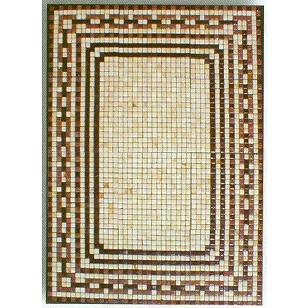 "Grecian Baths Glass Mosaic Carpet 3/4"" - 20mm, 1 piece 45"" x 60"""