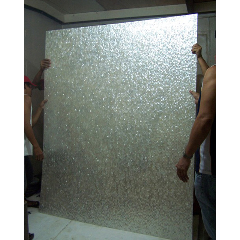 White Mother of Pearl Custom Seamless Bathroom