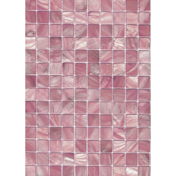 "Light Pink River Shell Mosaic Sheet, 20mm-3/4"", 1 tile"